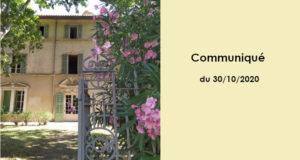 Communication aux libraires du 30/10/2020