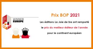 Les Éditions La Joie de lire, meilleur éditeur jeunesse européen de l'année