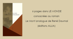 LE MONT ANALOGUE de René Daumal